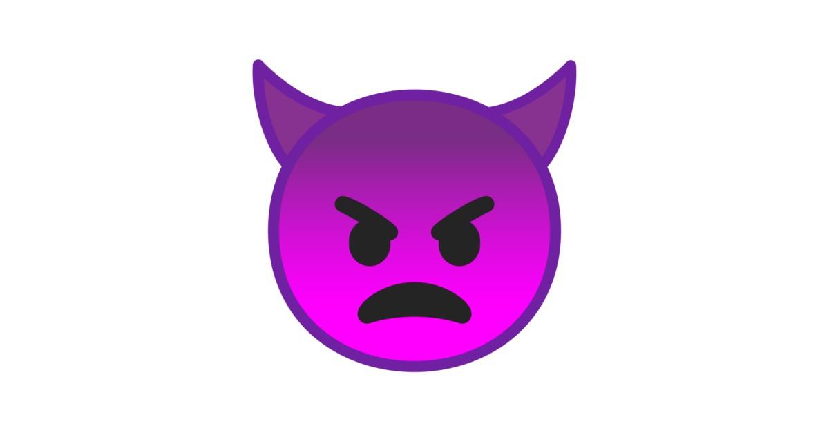 Cuernos De Diablo Png: Cara Enfadada Con Cuernos Emoji