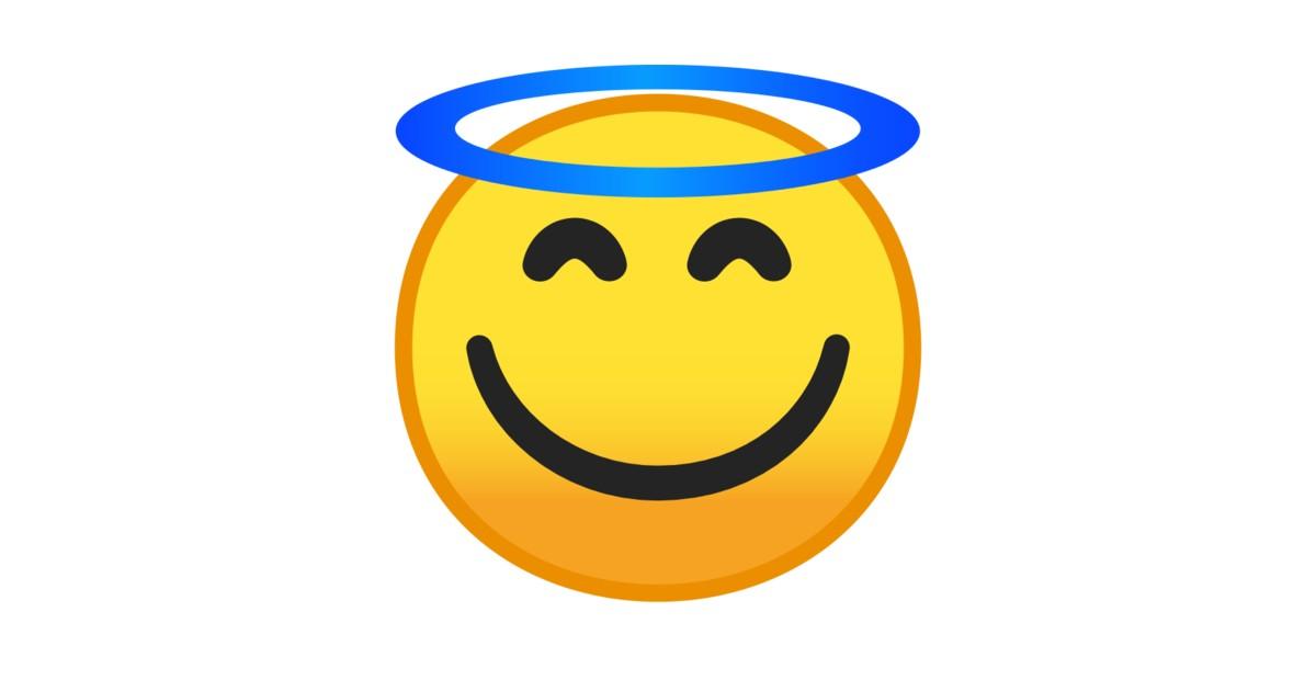 Lächelndes Gesicht Mit Heiligenschein Emoji