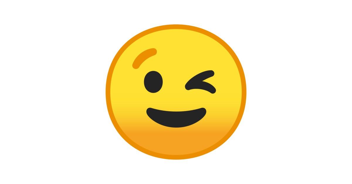 😉 zwinkerndes Gesicht-Emoji