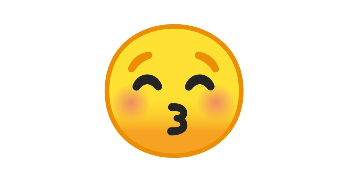 Küssendes Gesicht Mit Geschlossenen Augen-Emoji