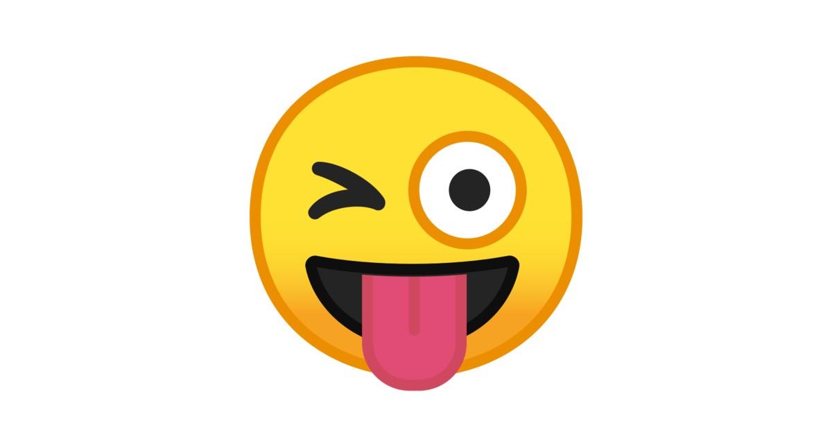 sacando la lengua  guinando  ojo emoji
