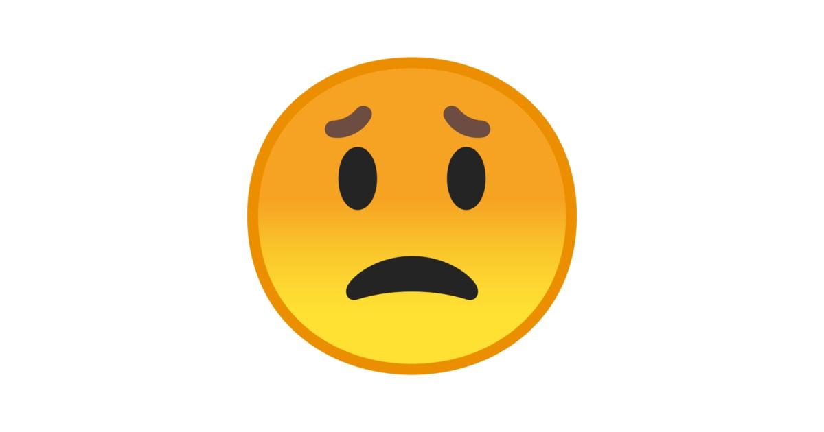 rosto preocupado emoji