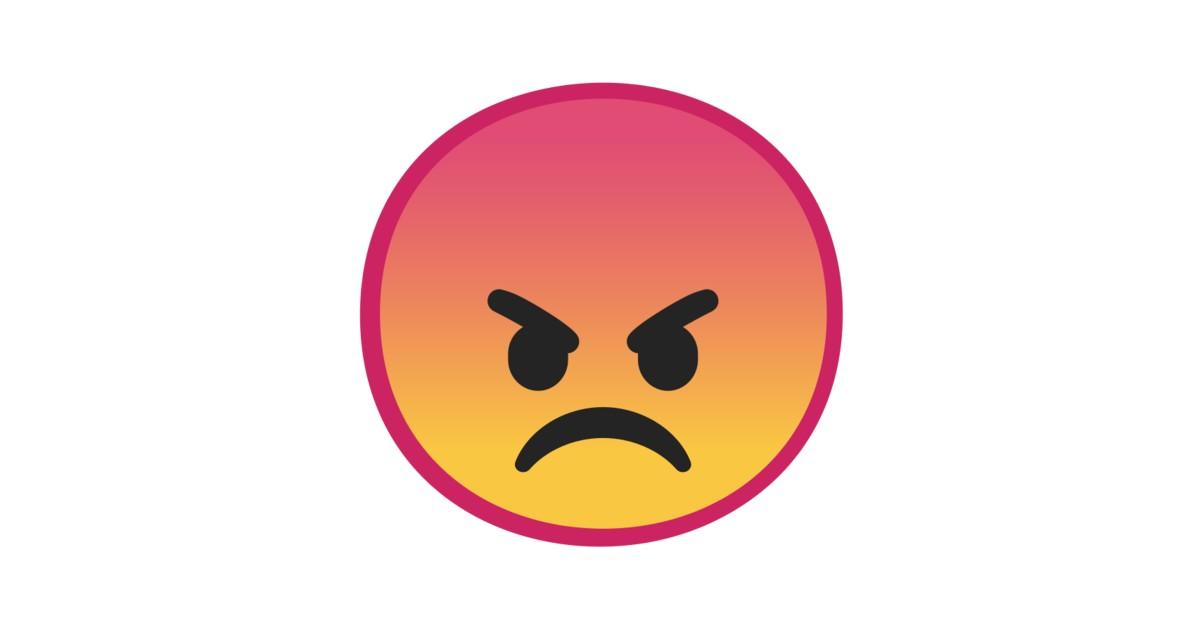 angry face emoji