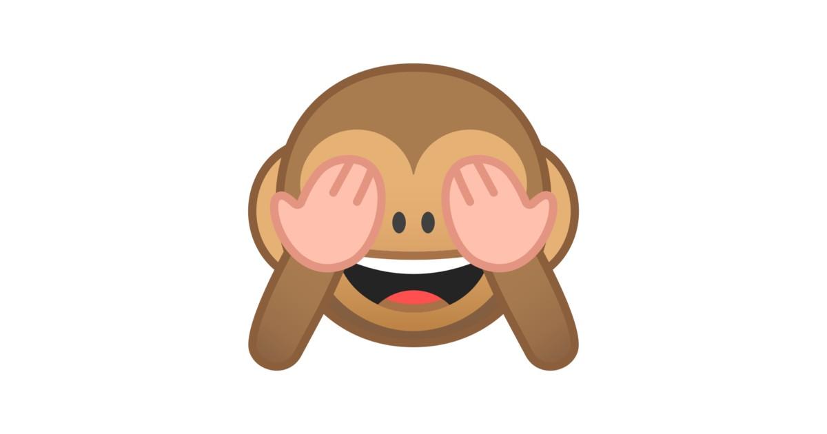 🙈 sich die Augen zuhaltendes Affengesicht-Emoji