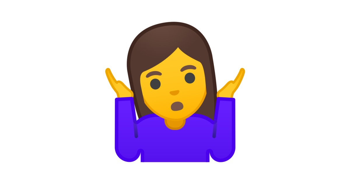 🤷 ♀️ Woman Shrugging Emoji
