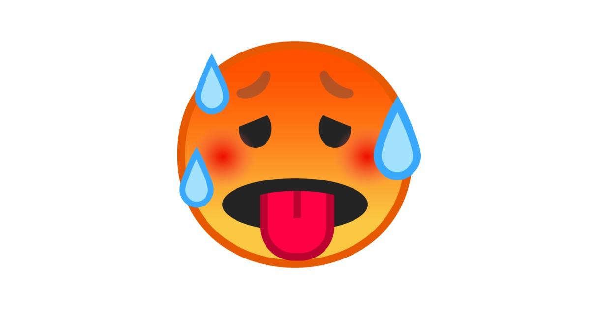 Schwitzender Emoji