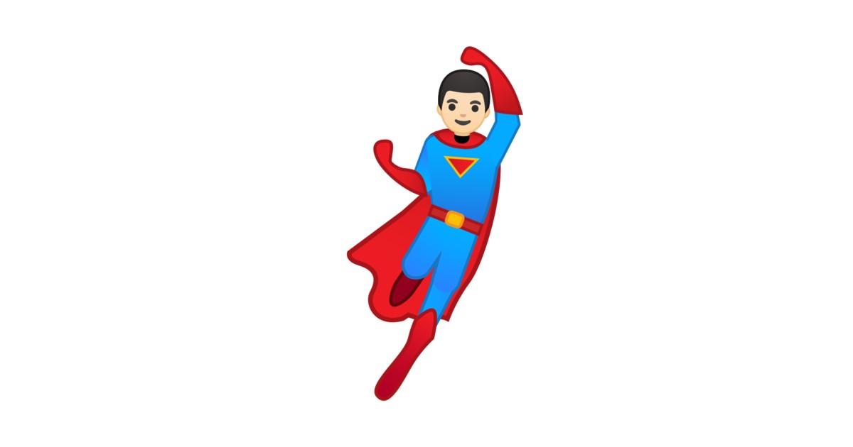 🦸🏻 ♂️ Man Superhero: Light Skin Tone Emoji