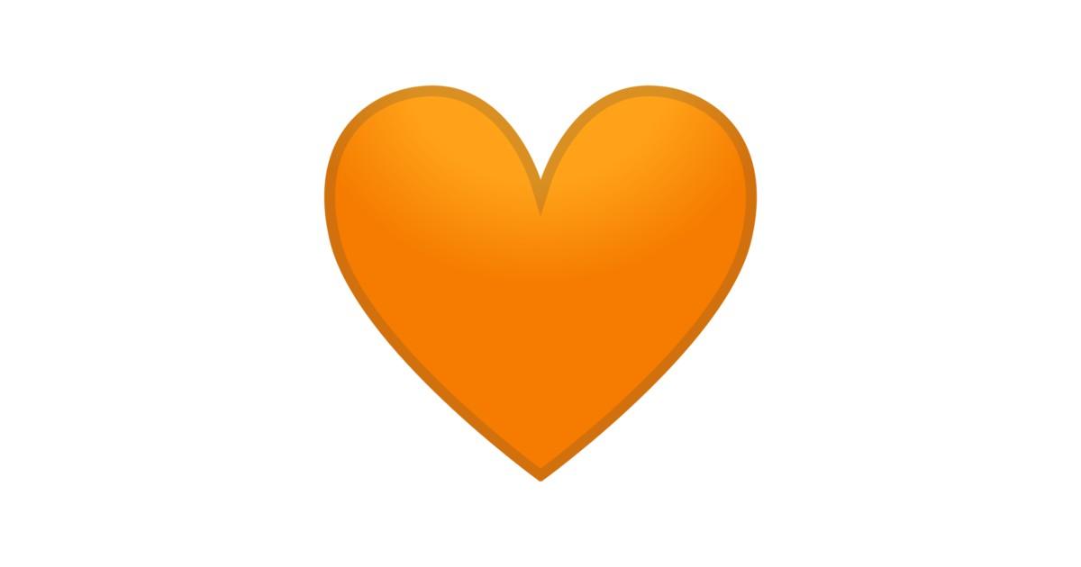 🧡 oranges Herz-Emoji | oranges Herz