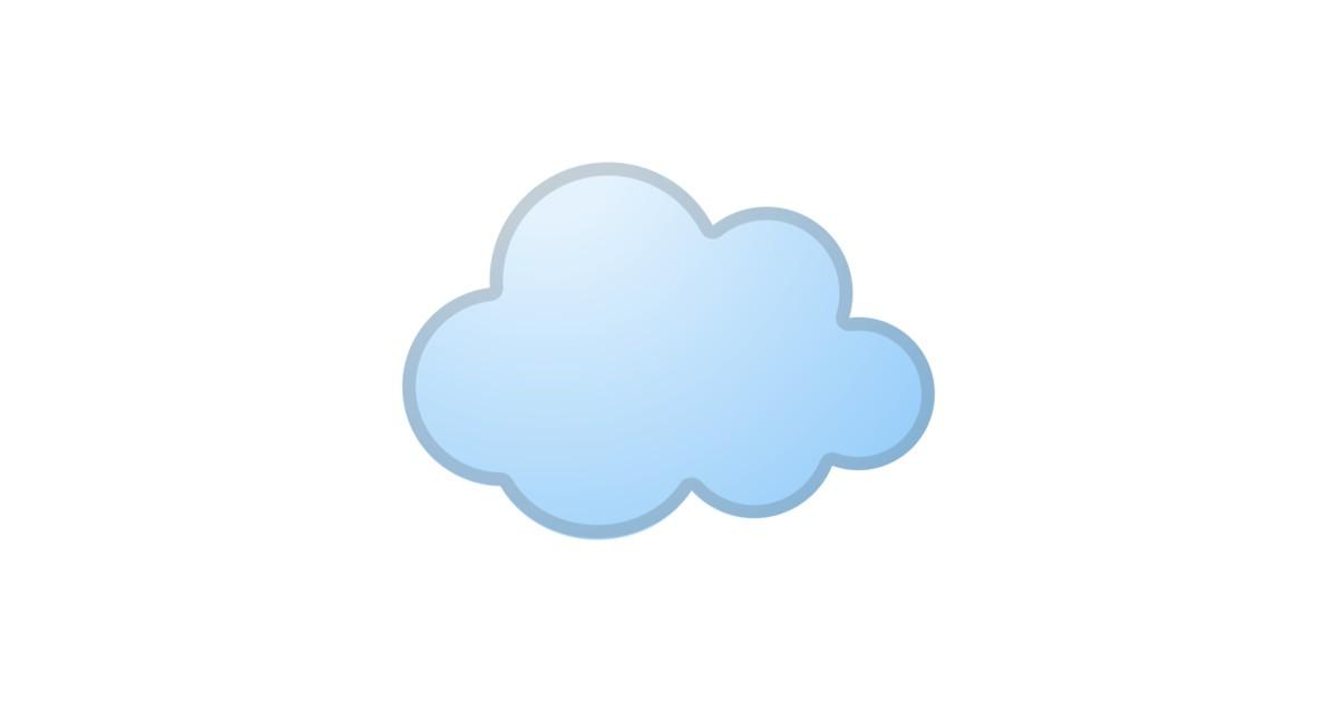 ☁️ Cloud Emoji