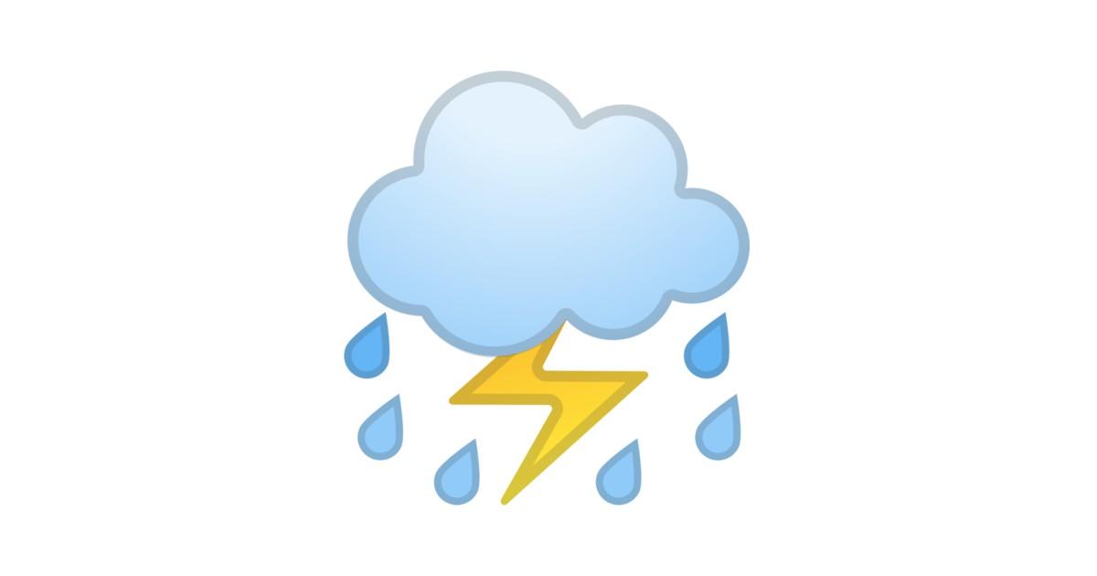 u26c8 ufe0f cloud with lightning and rain emoji