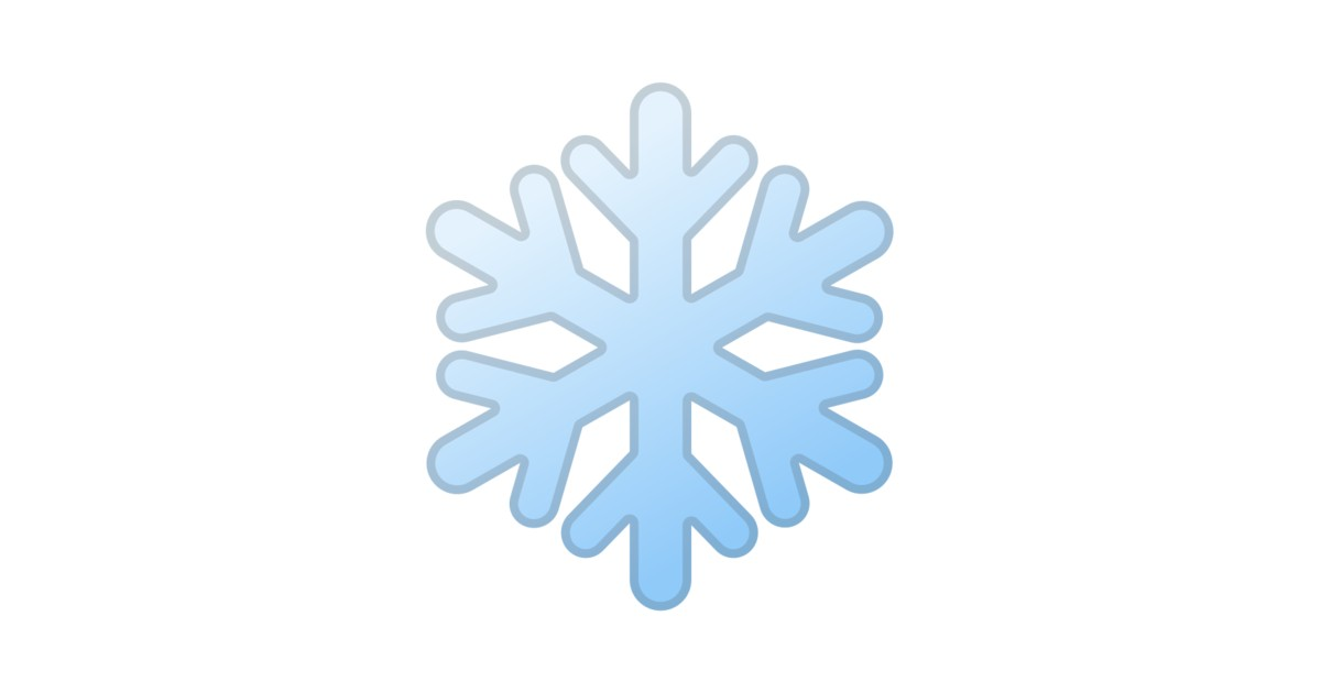 ️ Copo De Nieve Emoji