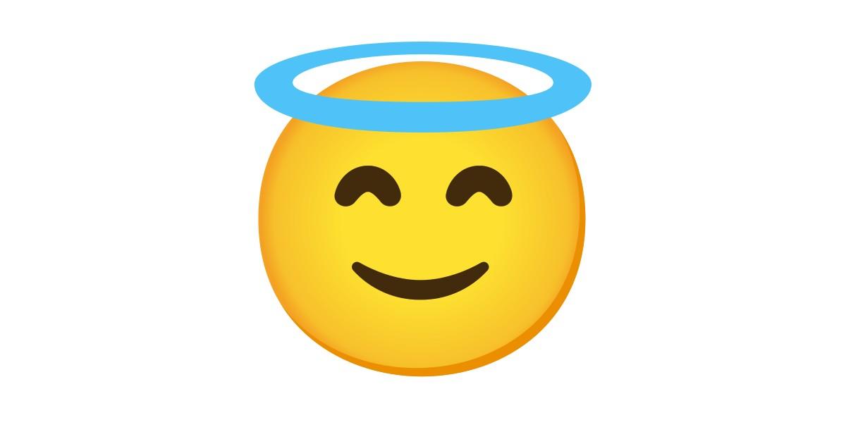 😇 Visage Souriant Avec Auréole Emoji