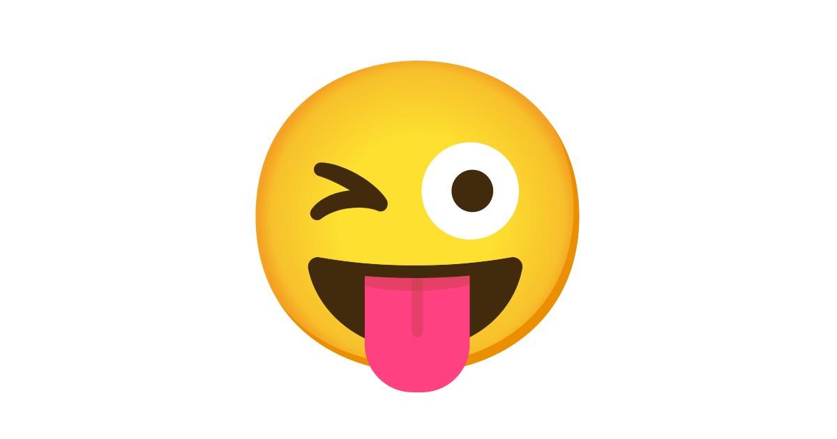 smiley zunge raus zwinkern flirten)