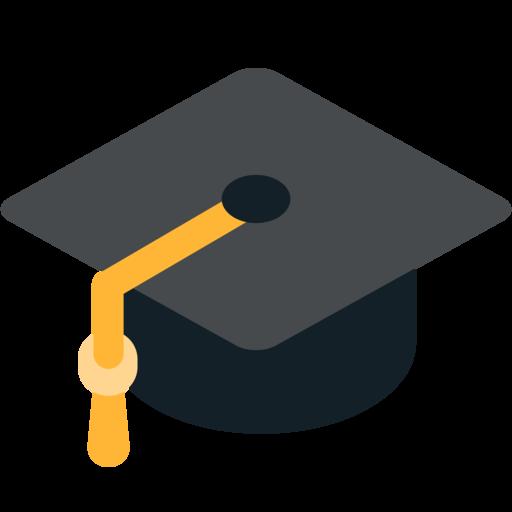 Resultado de imagen de emoticon birrete graduacion
