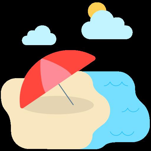 Sonnenschirm strand comic  🏖 Strand mit Sonnenschirm-Emoji