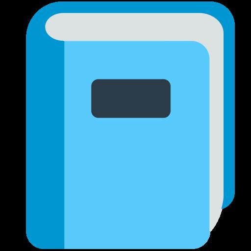 Livre Bleu Emoji