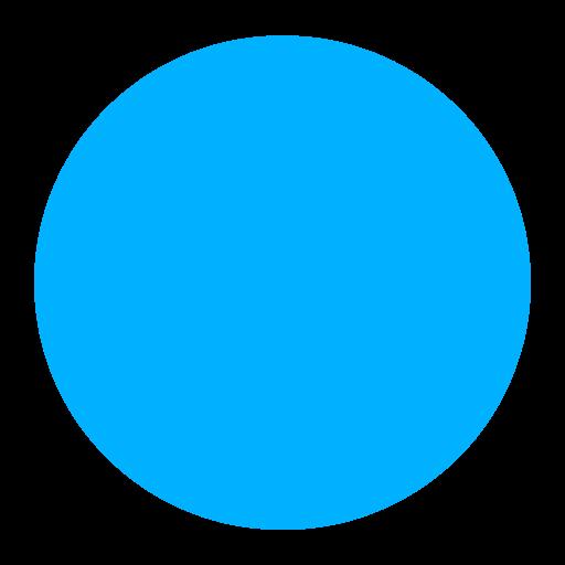 🔵 Blue Circle Emoji