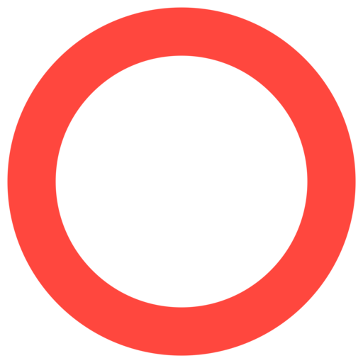 ⭕ Círculo Rojo Hueco Emoji