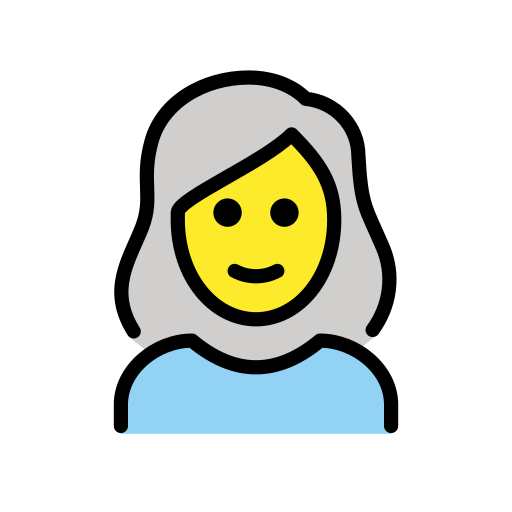 👩🦳 Donna: Capelli Bianchi Emoji