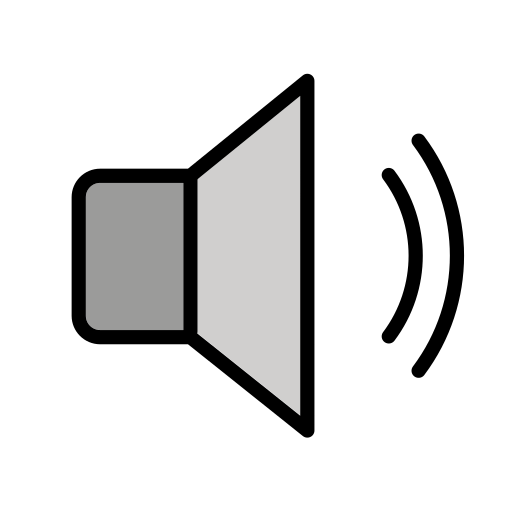 Lautsprecher mit mittlerer Lautstärke-Emoji