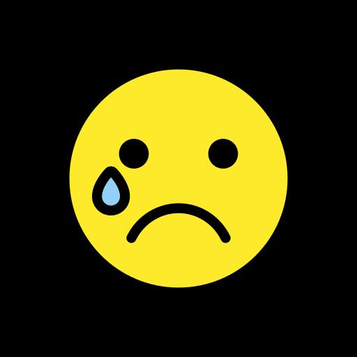 Visage Qui Pleure Emoji