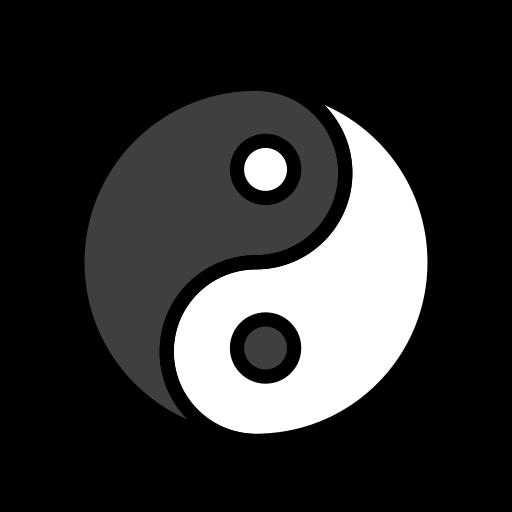 Yang symbol copy paste black and white