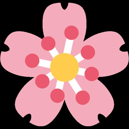 cherry blossom emoji twitter twemoji 23 mightylinksfo Images
