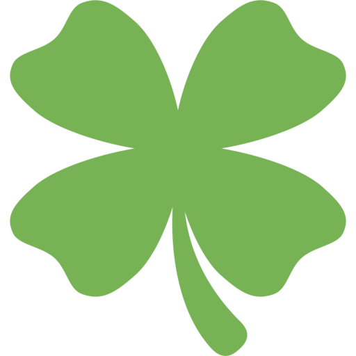 trevo de quatro folhas emoji four leaf clover vector outline four leaf clover vector outline