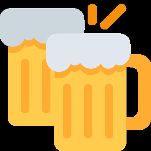 canecas de cerveja emoji
