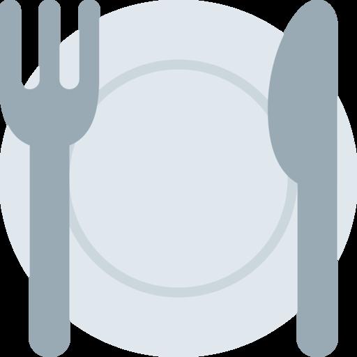 Teller mit messer und gabel emoji kopieren einf gen for Plato tenedor y cuchillo