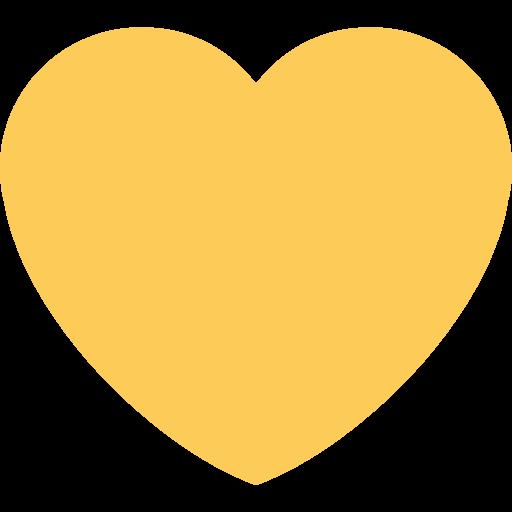 Cœur Jaune Emoji