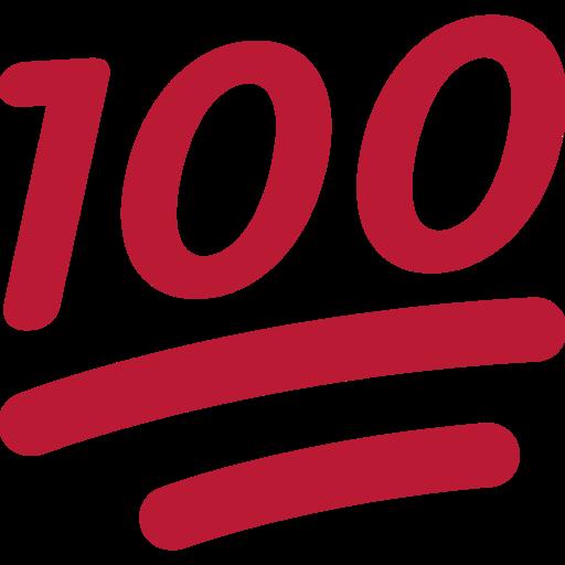 hundred points emoji