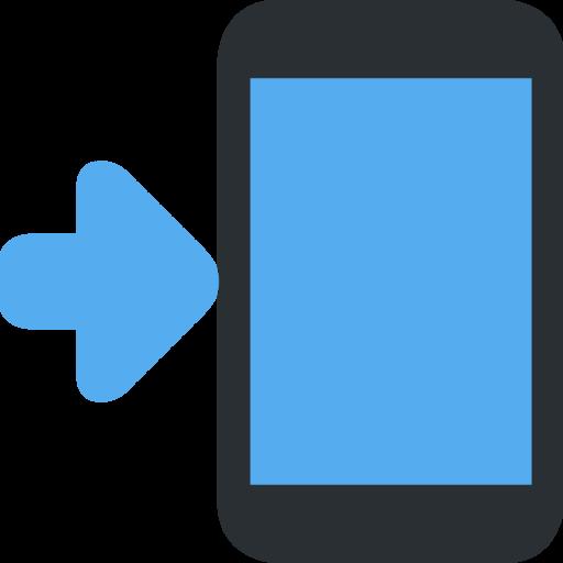 ? Telefono Cellulare Con Freccia Emoji