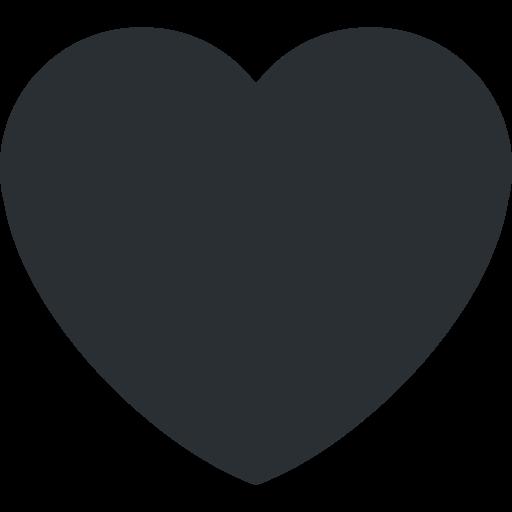 Resultado de imagem para coração emoji preto