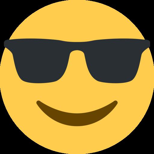 Cara sonriendo con gafas de sol emoji - Emoticono gafas de sol ...