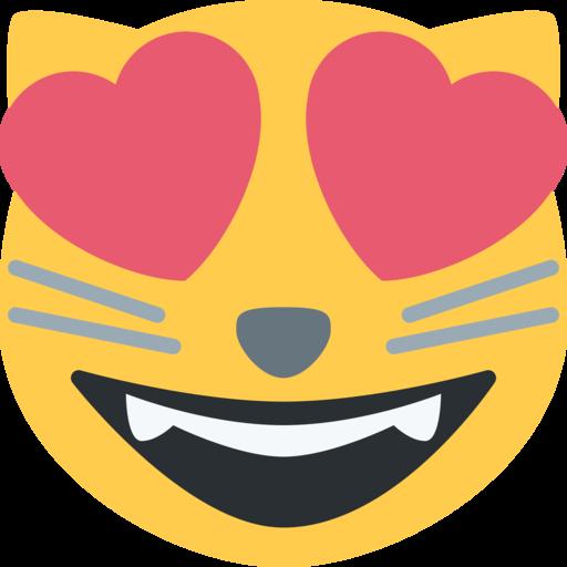 Katze bedeutung herzaugen emoji mit Emoji