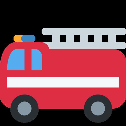 coche de bomberos emoji