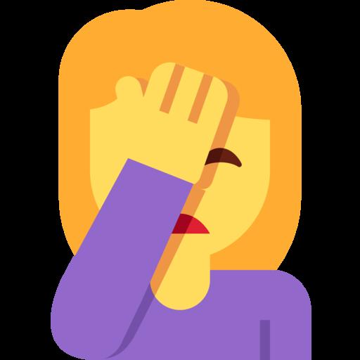 Sich An Den Kopf Fassende Person Emoji