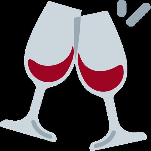 Resultado de imagem para emojis de taça de vinho