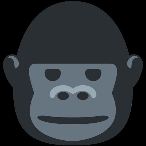 Head Of Gorilla:  Gorilla Emoji