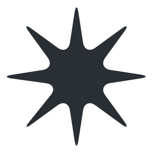 Estrella De Ocho Puntas Emoji