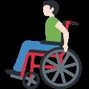 👨🏻🦽 Mann in manuellem Rollstuhl: helle Hautfarbe; Twitter v12.0