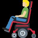 👨🏼🦼 Mann in elektrischem Rollstuhl: mittelhelle Hautfarbe; Twitter v12.0