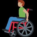 👨🏽🦽 Homem Em Cadeira De Rodas Manual: Pele Morena; Twitter v12.0