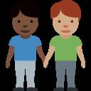 👨🏿🤝👨🏽 Deux Hommes Se Tenant La Main: Peau Foncée Et Peau Légèrement Mate; Twitter v12.0