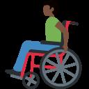 👨🏿🦽 Mann in manuellem Rollstuhl: dunkle Hautfarbe; Twitter v12.0