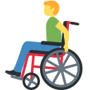 👨‍🦽 Man In Manual Wheelchair; Twitter v12.0