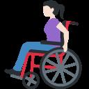 👩🏻🦽 Woman In Manual Wheelchair: Light Skin Tone; Twitter v12.0