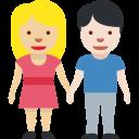 👩🏼🤝👨🏻 Femme Et Homme Se Tenant La Main: Peau Moyennement Claire Et Peau Claire; Twitter v12.0