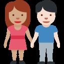 👩🏽🤝👨🏻 Uomo E Donna Che Si Tengono Per Mano: Carnagione Olivastra E Carnagione Chiara; Twitter v12.0